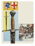 The Sword of Estore Visconti Giclee Print by Dan Escott