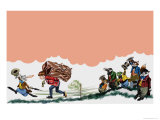 Off to School Giclee Print by Ron Embleton