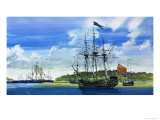 British Ship Giclee Print by John S. Smith
