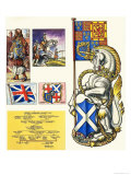 The Unicorn of Scotland Giclee Print by Dan Escott