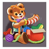 Teddy Bear Giclee Print by William Francis Phillipps
