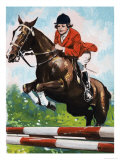 Horse Jumping Giclee Print by Jesus Blasco