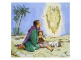 Hagar and Ishmael Giclee Print by Clive Uptton