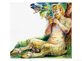 Pan, the Greek God of Nature Giclee Print by Philip Mendoza