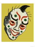 Japanese Theatrical Mask Giclee Print by Dan Escott