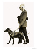 Guide Dog For the Blind Giclee Print by Bob Hersey