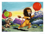 Leo the Friendly Lion Giclee Print by Virginio Livraghi