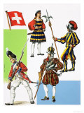 Swiss Mercenaries Giclee Print by Dan Escott