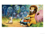 Leo the Friendly Lion Giclee-vedos tekijänä Virginio Livraghi