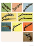 Pistols and Guns Giclee Print by Dan Escott