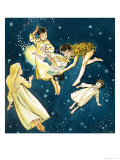 Peter Pan and Wendy Giclee Print by Nadir Quinto