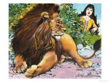 The Enchanted Lion Giclee Print by Jesus Blasco