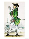Gentleman of About 1750 Giclee Print by Dan Escott