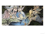 Fairies Washing Giclee Print by Jesus Blasco