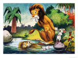 Leo the Friendly Lion Impressão giclée por Virginio Livraghi