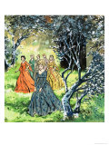 The Dancing Princesses Giclee Print by Jesus Blasco