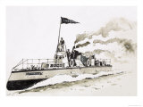 Turbinia, Steam-Powered Ship Giclee Print by John S. Smith
