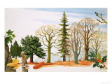 Trees in Winter Giclee Print by John Rignall