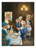 Town Mouse and Country Mouse Giclee Print by Philip Mendoza