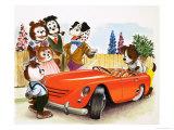 Francis Phillipps - The Jolly Dogs Digitálně vytištěná reprodukce