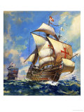Unidentified Sailing Ships Giclee Print by Andrew Howat