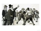 Unidentified Football Match Giclee Print by Clive Uptton