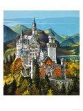 Castle Neuschwanstein Giclee Print by Dan Escott