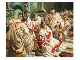 The Death of Julius Caesar Giclee Print by C.l. Doughty