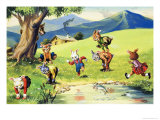Bear Rabbit Giclee Print by Virginio Livraghi