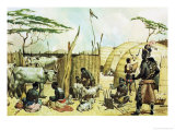 Zulu Village Giclee Print by James Edwin Mcconnell