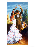 The Flamenco from Spain Giclee Print by Robert Brook