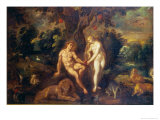 Adam and Eve Giclee Print by J. Urselincx Or Urseline