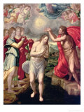 The Baptism of Christ Giclee Print by Juan Fernandez De Navarrete