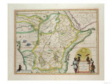 "Map of Ethiopia Showing Five African States, c.1690 G. Blaeu's ""Grooten Atlas"" of 1648-65 Giclee Print"