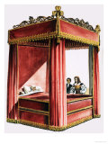 Four Poster Bed Giclee Print by Dan Escott