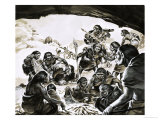 Cavemen of the Cold Spell Giclee Print by Angus Mcbride