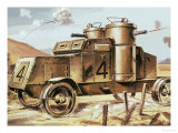 Early Tank Giclee Print by Dan Escott