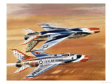 Into the Blue: Thunderbirds Giclee Print by Wilf Hardy