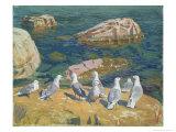Seagulls, 1910 Giclee Print by Arkadij Aleksandrovic Rylov