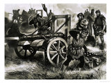Canon Being Fired Giclee Print by Ron Embleton