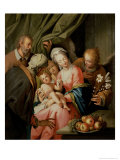 Holy Family with St. Anne Giclee Print by Pieter Or Peeter Van Veen