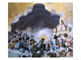 Storming the Bastille Giclee Print by Angus Mcbride