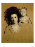 Georgiana, Countess Spencer and Her Daughter Lady Georgiana, Afterwards Duchess of Devonshire, 1759 Reproduction procédé giclée par Joshua Reynolds