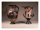 Black-Figure Amphora, Greek, 6th Cen.Bc, Red-Figure Calyx-Krater, Greek, South Italy, 4th Cen.Bc Giclee Print