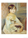 Julie Manet with Cat, 1887 Giclee Print by Pierre-Auguste Renoir