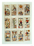 Selection of Tarot Cards, French, 19th Century Giclee Print