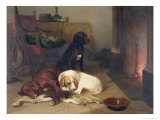By the Fireside Giclee Print by Conradyn Cunaeus