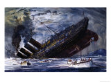 The Sinking of the Titanic Giclee Print by Graham Coton