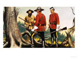 Canadian Mounties Giclee Print by Ron Embleton