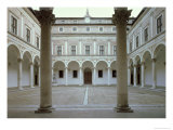View of the Cortile D'Onore Giclee Print by Luciano Laurana